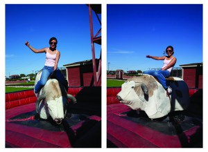 My first time riding a mechanical bull