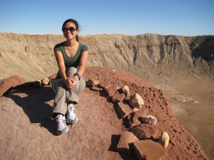 On the Edge of Meteor Crater, Arizona