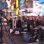 On Set at Times Square