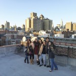 The gang on top of Div's roof after brunch