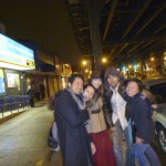 After Russian vodka night - happy drunkards in Brighton Beach