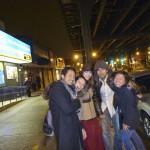 After Russian vodka night - happy drunkards in Brighton Beach