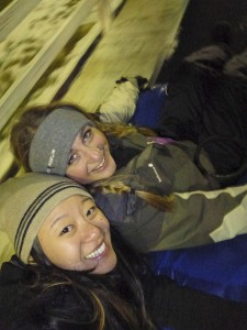 Snowtubing in Woodbury CT with Zoe and friends